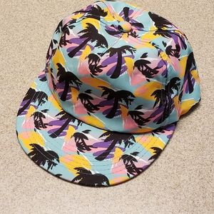 Neff Kids Neon Snapback with Black Palm Trees